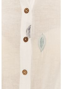 Biała koszula Answear Lab długa, na co dzień, z klasycznym kołnierzykiem, wakacyjna