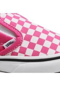 Vans - Tenisówki VANS - Slip-On V VN0A348830Z1 (Checkerbrd)Fchsaprptrwht. Zapięcie: bez zapięcia. Kolor: różowy. Materiał: materiał. Szerokość cholewki: normalna
