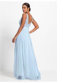 Niebieska sukienka bonprix wizytowa, na wesele