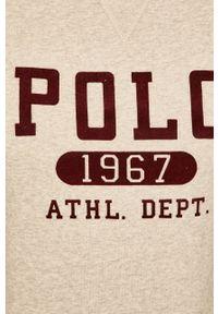 Szara bluza nierozpinana Polo Ralph Lauren z aplikacjami, casualowa, polo