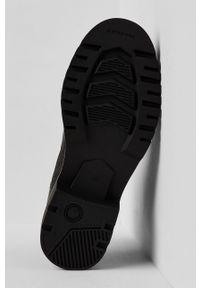 Czarne botki G-Star RAW z cholewką, na sznurówki