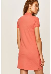 Czerwona sukienka Polo Ralph Lauren casualowa, polo, na co dzień
