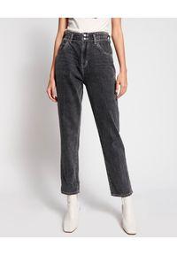 ONETEASPOON - Czarne jeansy Pioneer High Waist. Okazja: na co dzień. Stan: podwyższony. Kolor: szary. Sezon: lato. Styl: casual