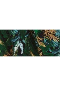 TOP SECRET - Sukienka maxi na ramiączkach z nadrukiem. Typ kołnierza: dekolt w kształcie V. Kolor: zielony. Materiał: dzianina. Długość rękawa: na ramiączkach. Wzór: nadruk. Sezon: lato. Długość: maxi