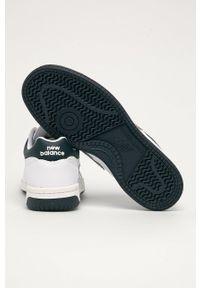 Białe sneakersy New Balance z cholewką, na sznurówki, z okrągłym noskiem