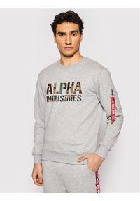 Alpha Industries Bluza Camo Print 176301 Szary Regular Fit. Kolor: szary. Wzór: nadruk