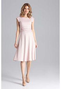 Różowa sukienka wizytowa Figl elegancka