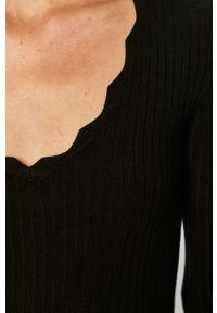 Czarny sweter Brave Soul długi, z długim rękawem