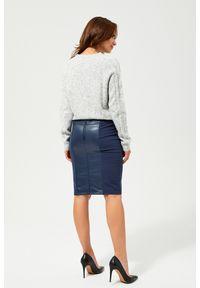 MOODO - Spódnica mini z łączonych materiałów. Materiał: materiał. Wzór: gładki