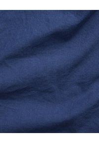 Ralph Lauren - RALPH LAUREN - Granatowa koszula Dobby Slim Fit. Typ kołnierza: polo. Kolor: niebieski. Materiał: bawełna. Długość rękawa: długi rękaw. Długość: długie. Wzór: haft