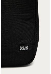 Czarna torba podróżna Jack Wolfskin gładkie, casualowa