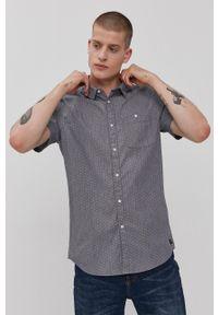 Tom Tailor - Koszula. Typ kołnierza: kołnierzyk klasyczny. Kolor: szary. Materiał: włókno, tkanina. Styl: klasyczny