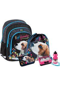 Starpak Zestaw szkolny Cuties Doggy czarny. Kolor: czarny