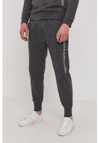 Polo Ralph Lauren - Spodnie. Kolor: szary. Materiał: dzianina. Wzór: nadruk