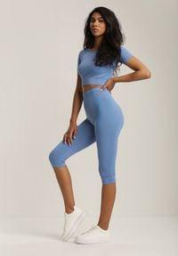 Renee - Niebieski 2-Częściowy Komplet Sportowy Icelias. Kolor: niebieski. Materiał: materiał