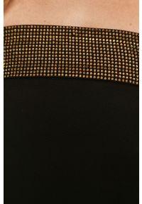 Czarna sukienka Pinko dopasowana, gładkie