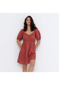House - Sukienka z bufiastymi rękawami - Fioletowy. Kolor: fioletowy