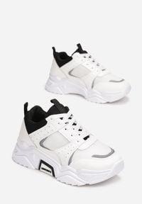 Renee - Białe Sneakersy Amabilis. Kolor: biały