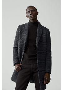 Szary płaszcz Mango Man bez kaptura, na co dzień, klasyczny