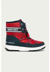 Moon Boot - Śniegowce. Nosek buta: okrągły. Zapięcie: sznurówki. Kolor: czerwony