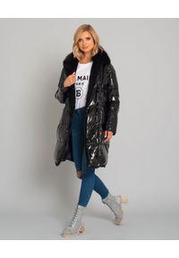 YVES SALOMON PARIS - Płaszcz puchowy z futrem z lisa. Kolor: czarny. Materiał: puch, futro. Długość: długie