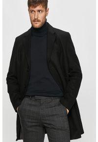 Czarny płaszcz Strellson na co dzień, bez kaptura