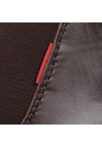 Brązowe buty zimowe Sergio Bardi z cholewką, klasyczne