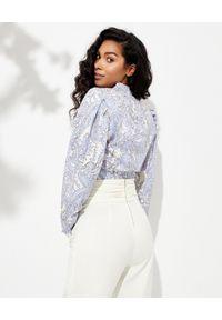 ISABEL MARANT - Bluzka ze wzorem paisley Bayani. Kolor: biały. Materiał: materiał. Długość: długie. Wzór: paisley