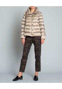 SEDUCTIVE - Spodnie z aplikacją. Kolor: brązowy. Wzór: aplikacja. Styl: elegancki