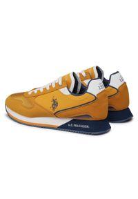 U.S. Polo Assn - Sneakersy U.S. POLO ASSN. - Nobil 183 NOBIL4183S1/HY1 Ocra. Okazja: na co dzień. Kolor: brązowy. Materiał: skóra ekologiczna, materiał. Szerokość cholewki: normalna. Styl: sportowy, casual