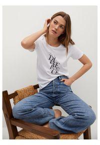 mango - Mango T-Shirt Pstdif 87025136 Biały Regular Fit. Kolor: biały