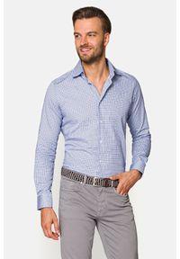 Lancerto - Koszula z Nadrukiem Rita. Materiał: bawełna, tkanina, jeans. Wzór: nadruk