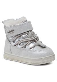 Srebrne buty zimowe Sergio Bardi Young