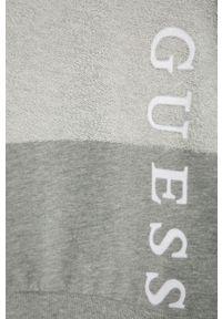Szara bluza Guess gładkie, bez kaptura