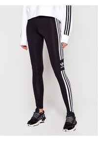 Adidas - adidas Legginsy Trefoil DV2636 Czarny Slim Fit. Kolor: czarny
