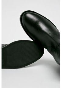 Czarne botki Gioseppo z cholewką