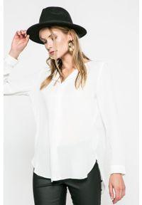 Vila - Koszula. Kolor: biały. Materiał: tkanina. Wzór: gładki