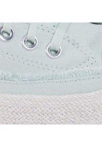 Zielone buty sportowe Converse na co dzień, na koturnie, z cholewką