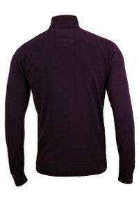 Fioletowy sweter Brave Soul z golfem, na jesień