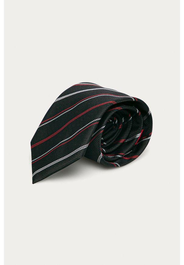 Czarny krawat Hugo