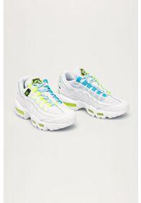 Białe buty sportowe Nike Sportswear z cholewką, na sznurówki, z okrągłym noskiem