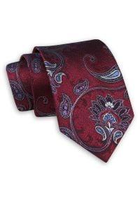 Ciemnoczerwony Krawat w w Duże Kwiaty - Chattier. Kolor: czerwony. Materiał: tkanina. Wzór: kwiaty. Styl: wizytowy, elegancki