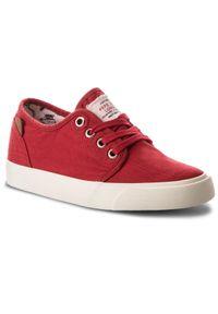 Pepe Jeans - Tenisówki PEPE JEANS - Traveler Washed PBS30354 Crispy Red 241. Okazja: na uczelnię. Kolor: czerwony. Materiał: materiał. Szerokość cholewki: normalna