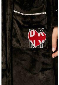 Czarny szlafrok DKNY