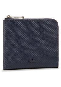 Niebieski portfel Lacoste