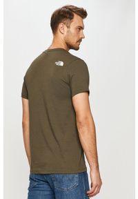 Zielony t-shirt The North Face na co dzień, casualowy