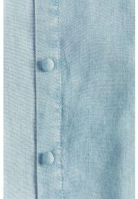 Niebieska koszula Guess Jeans z klasycznym kołnierzykiem, na co dzień