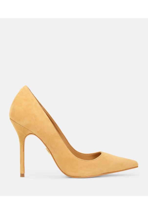 Kazar - Jasnobrązowe czółenka damskie. Kolor: brązowy. Materiał: skóra, zamsz