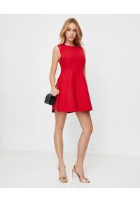 Czerwona sukienka mini VALENTINO rozkloszowana, do pracy