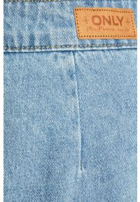Niebieska spódnica only na co dzień, z podwyższonym stanem